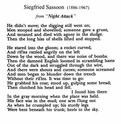 siegfried sassoon critical essay Essay writing guide learn by siegfried sassoon and i john claire the poem aftermath written by siegfried sassoon is a highly critical piece that.